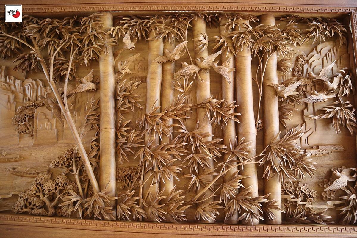 Tranh cây Tre - Trúc Điểu Trường Giang