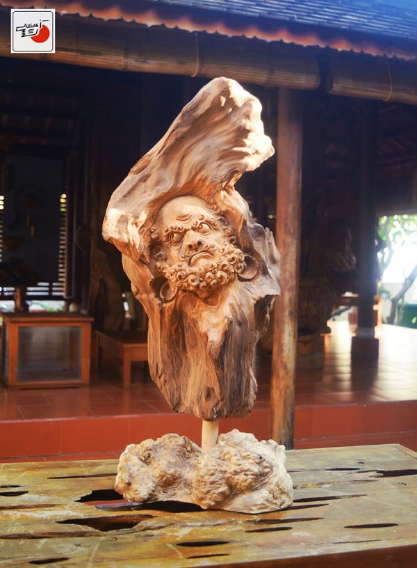 tượng gỗ đạt ma gỗ đẹp
