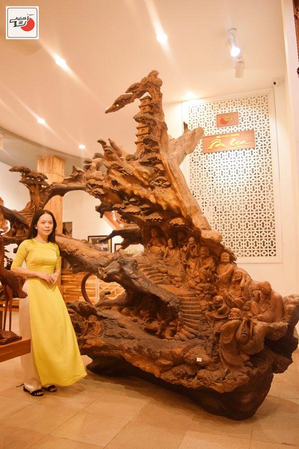 tượng gỗ thập bát la hán