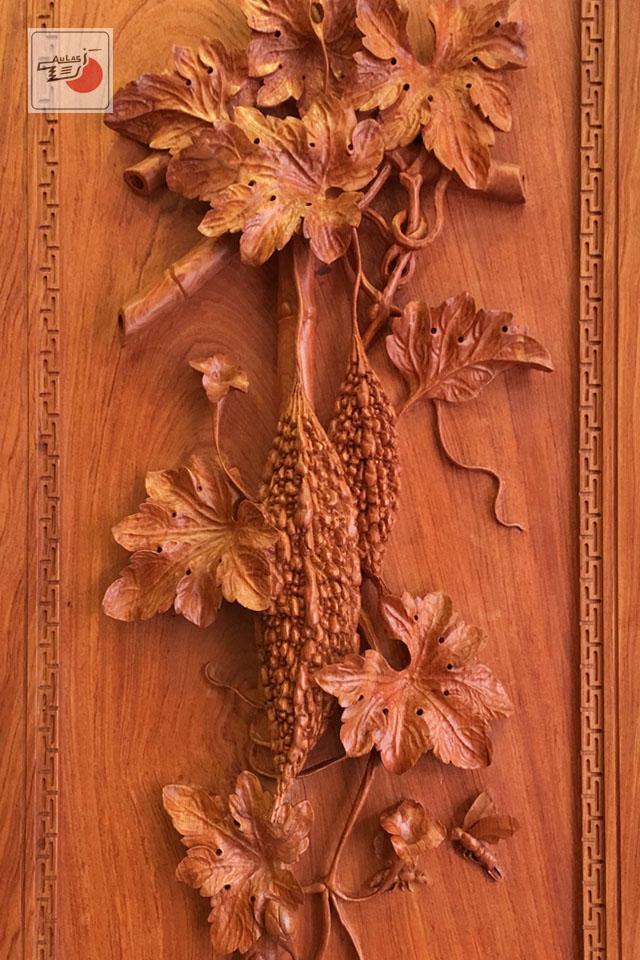 tranh khổ qua gỗ