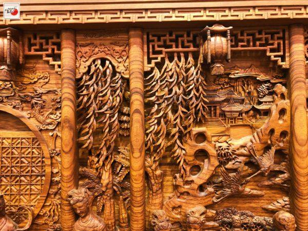 tranh cầm kì thi họa gỗ nghệ thuật âu lạc