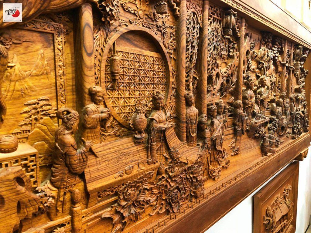 tranh gỗ đẹp âu lạc