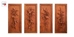 tranh gỗ tứ quý cay đắng ngọt bùi Âu Lạc