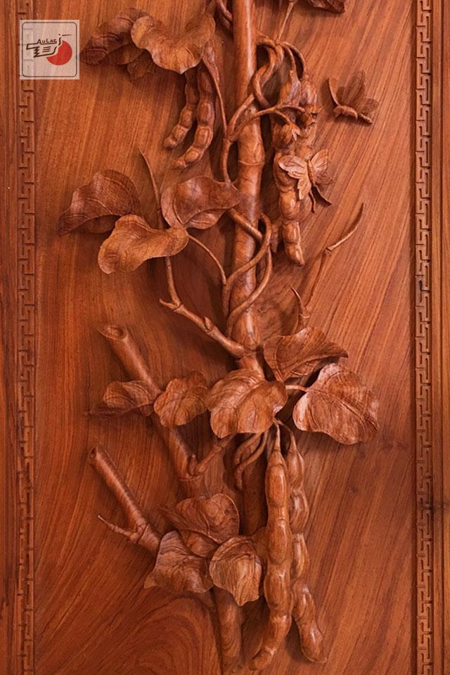 tranh gỗ tứ quý việt nam