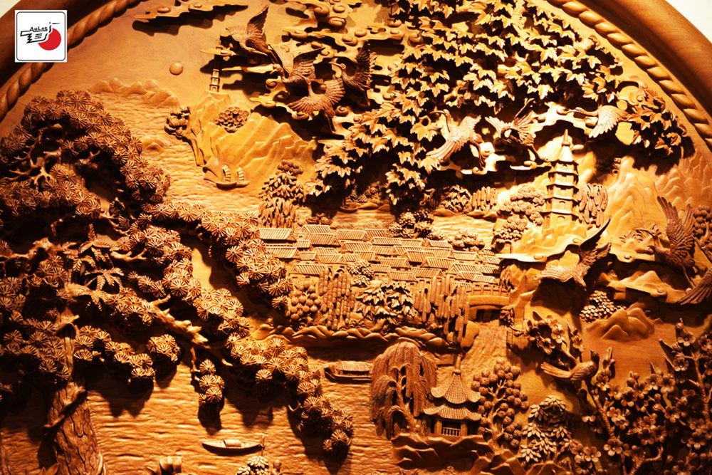 tranh gỗ treo tường cao cấp phong cảnh hữu tình