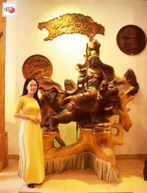 tượng gỗ văn thù bồ tát