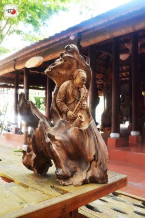 Tượng gỗ Nghệ sĩ Saxophone