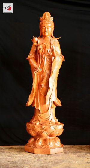 tượng gỗ đại thế chí bồ tát