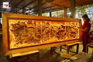 Tranh gỗ đẹp Cầm Kỳ Thi Họa