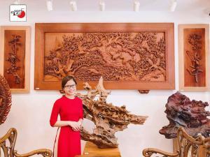 tranh gỗ Mai Hạc