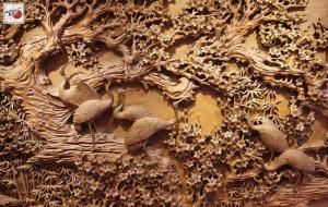 Tranh gỗ mỹ nghệ Mai Hạc – Mai Điểu
