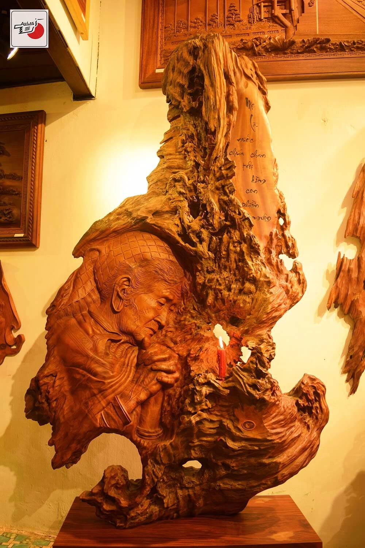 chân dung tranh gỗ nghệ thuật