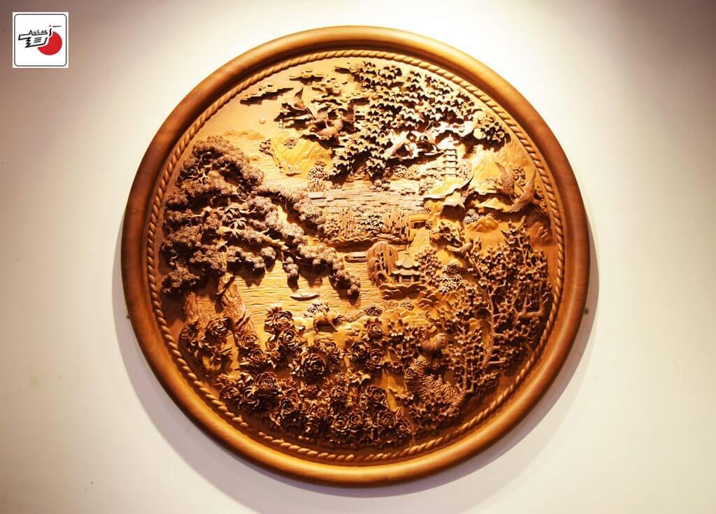 đĩa gỗ mỹ nghệ đẹp treo tường