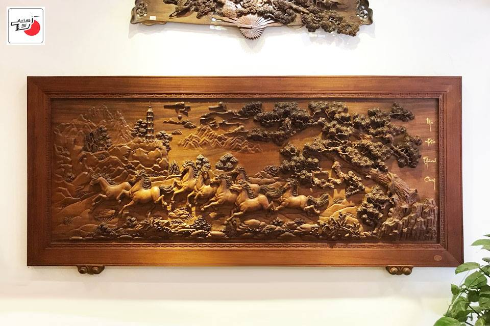 tranh gỗ mã đáo thành công đẹp