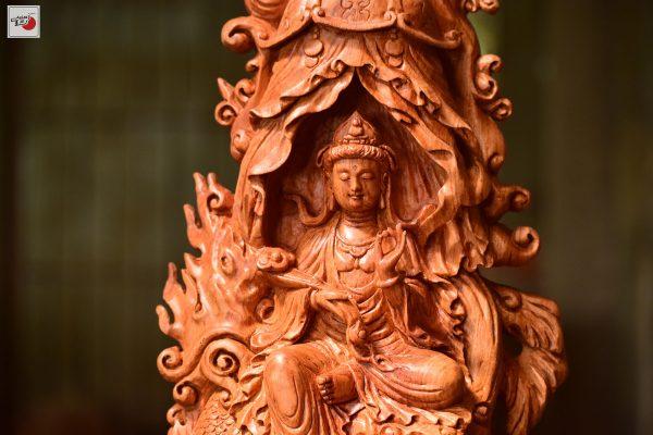 tượng gỗ phật bà