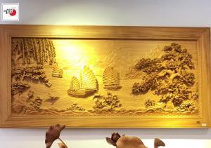 tranh gỗ thuận buồm xuôi gió ban o dau