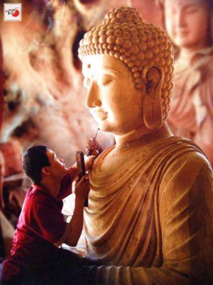 Tượng gỗ Phật Tổ Như Lai