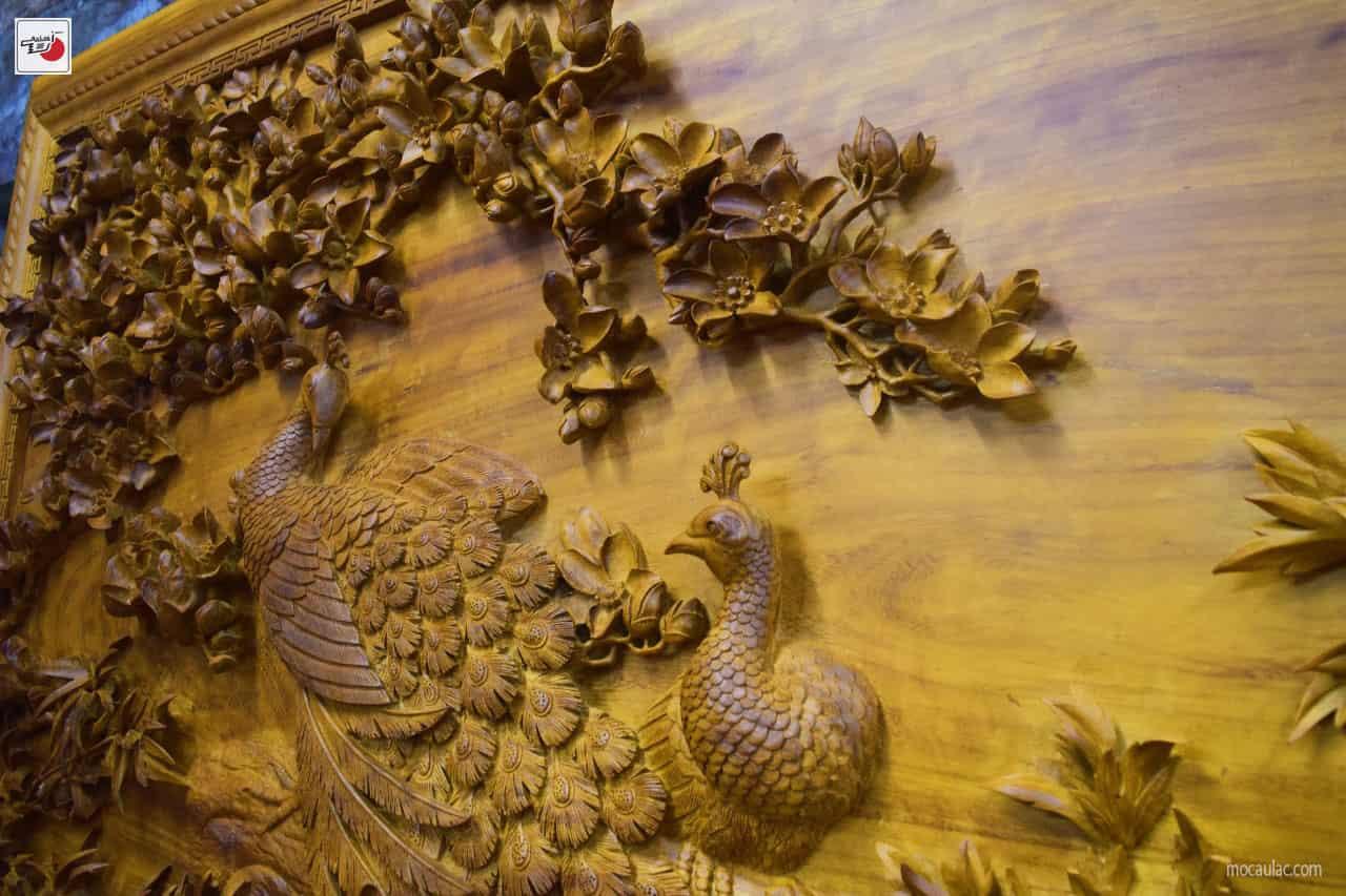 tranh gỗ phú quý mãn đường