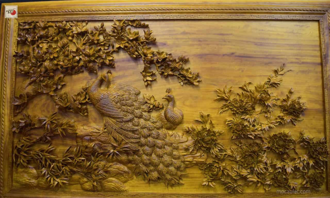 Tranh gỗ Phu Thê Viên Mãn